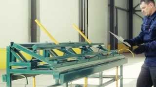 Изготовление деталей на листогибе ЛГС-26. Ендова, снегозадержатель, откос (часть 3/3)(, 2013-11-26T06:36:56.000Z)