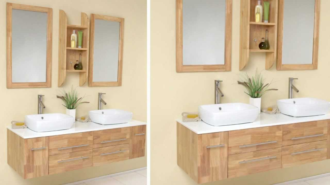 fresca bellezza natural wood modern bathroom vanity w/ solid oak