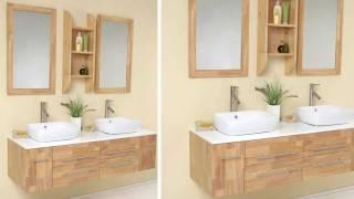 Fresca Bellezza Natural Wood Modern Bathroom Vanity W/ Solid Oak Wood & Ceramic Sinks - Fvn6119nw