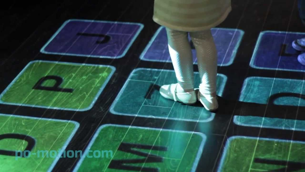 Po-motion Interactive Floor and Wall Projection Software
