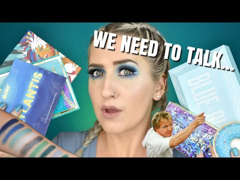 BEST BLUE EYESHADOW PALETTES + SWATCHES! thumbnail