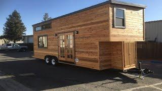 California Tiny House Builder Creates Wooden Beauty On 24ft Trailer