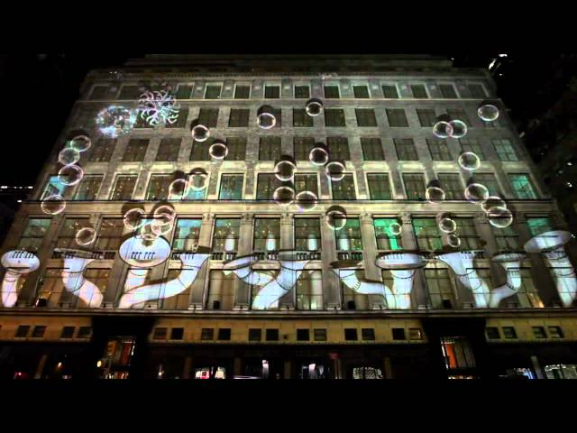 Christmas Light Show, Saks 2011.mp4 Travel Video