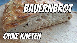 Knuspriges Bauernbrot ohne kneten (crispy no-knead bread)