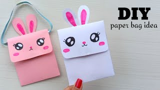 Origami Paper Bag   How To Make Paper Bags with Handles   Origami Gift Bags   school hacks