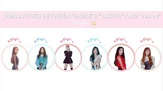 similarities between g-idle's latata and hann music videos