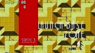 "Sonic 3k PC ""Launch Base act 1"" Music ""FM Synthesizer"""
