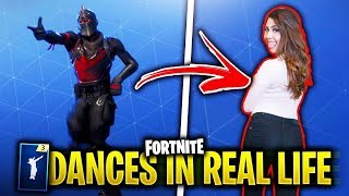 ALL FORTNITE DANCES IN REAL LIFE 100% SYNC
