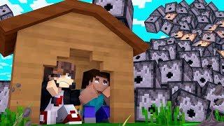 Minecraft: DESAFIO DA BASE 1000% SEGURA CONTRA TSUNAMI DE ASTOLFO ‹ JUAUM ›