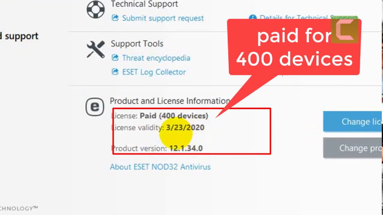 Eset Nod32 antivirus license key valid 2020 - YouTube