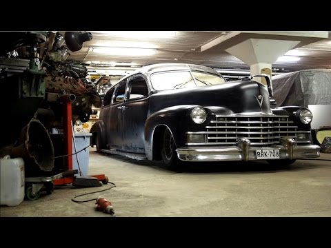 Chopping the roof of a '46 Cadillac he - YouTube