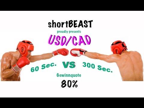 Binäre Optionen 60 Sek vs 300 Sek Optionweb USD CAD 80%