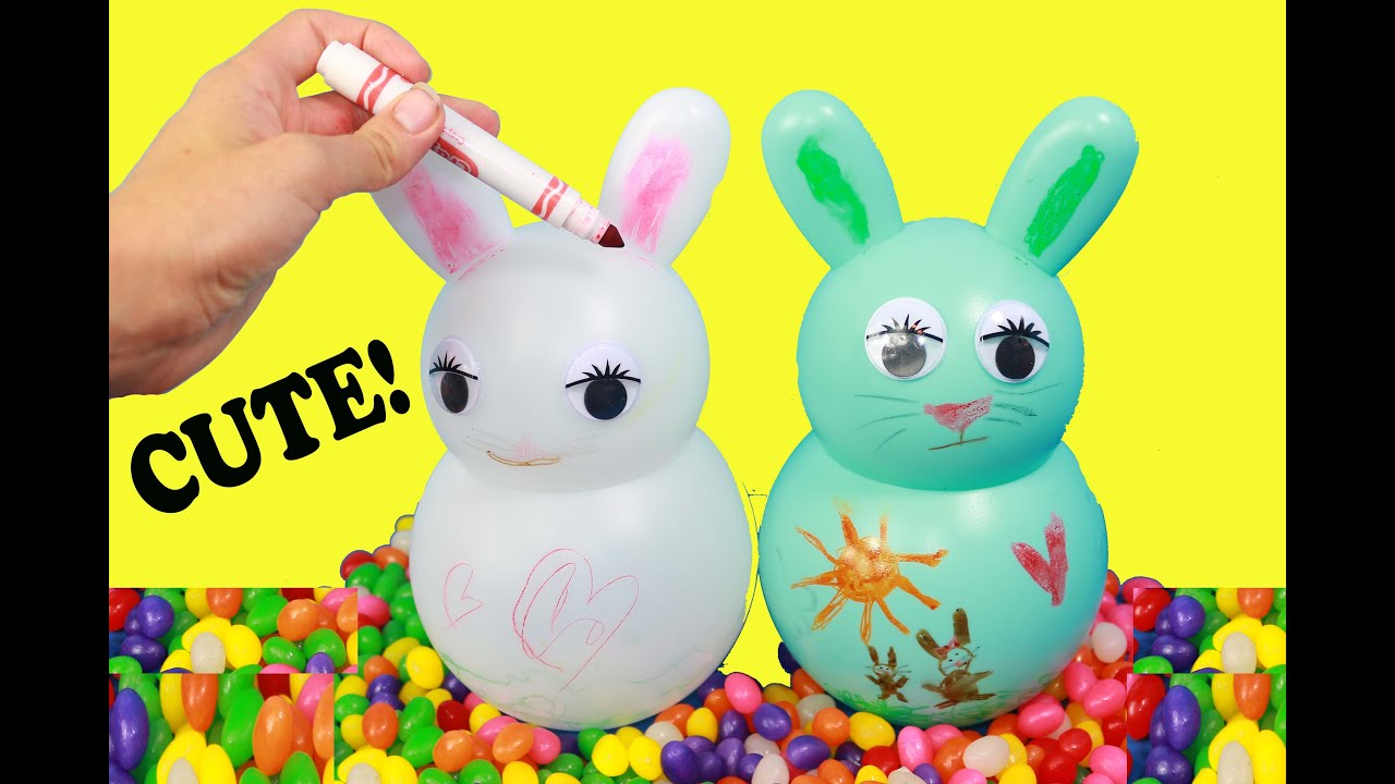 Diy easter kids craft easter bunny decorate crayola youtube negle Images