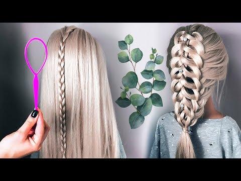 🌿ПРИЧЕСКИ🌿КОСА на Длинные Волосы с помощью петельки🌿 на последний звонок ©LOZNITSA