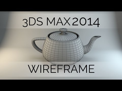 Lets Model: Wireframe Render in 3DS Max