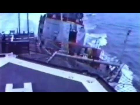 Soviet Warship Rams U.S. Navy Destroyer Near Crimea During Cold War | Military News