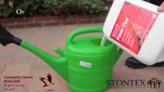 STONTEX PAVER PLUS -  concrete block paving sealer application instructions video logo