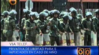 Privativa De Libertad Para 5 Implicados En Caso Niño De Guanare