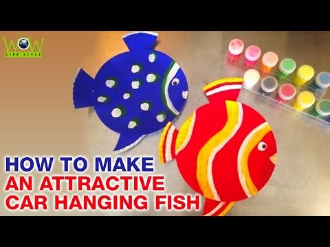 How To Make An Attractive Car Hanging Fish | DIY Paper Arts & Crafts