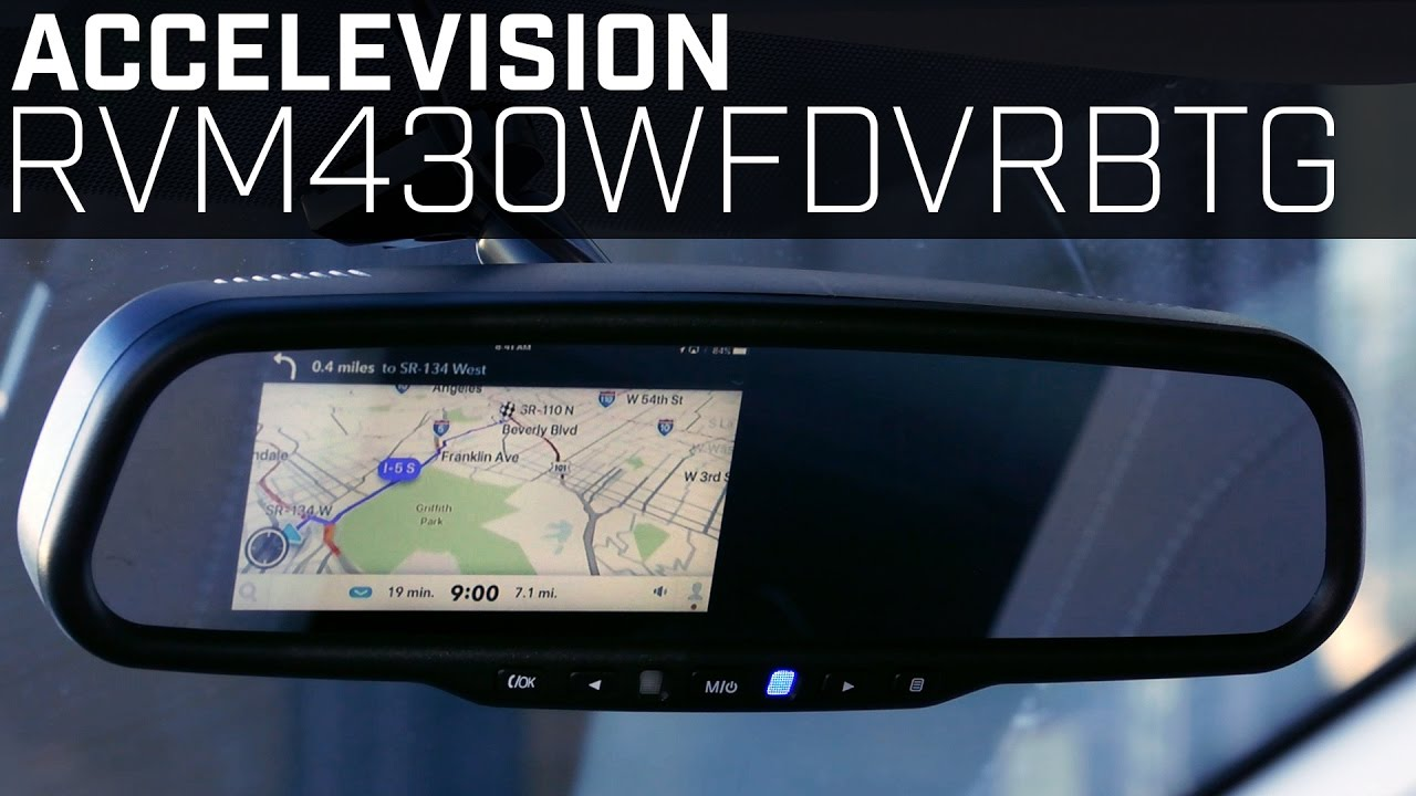 wireless video mirroring rvmwfdvrbtg rearview mirror monitor youtube