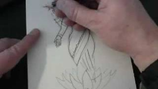 How to draw Hindu Goddess Lakshmi