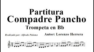Partitura Compadre Pancho Trompeta en Bb