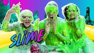 100 LITERS OF  SLIME | LOS POLINESIOS VLOGS