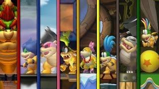 New Super Mario Bros. U - All Castles (Koopaling Battles)