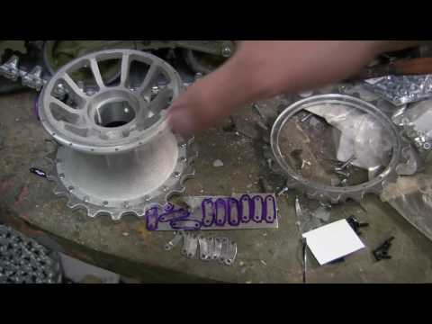 Vintage RC 1/6th scale armortek early production Tiger I Video#5 (Sprockets and motor assembly)