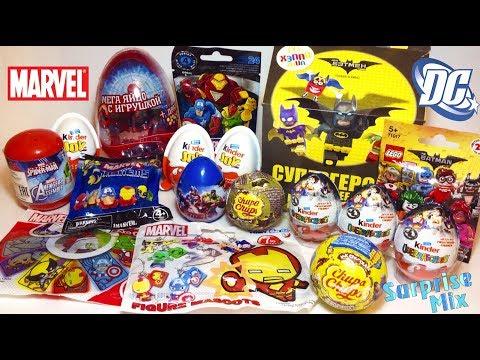СЮРПРИЗЫ Игрушки MARVEL vs DC Comics СУПЕРГЕРОИ. MARVEL vs DC heroes toys SURPRISES Unboxing BATTLE