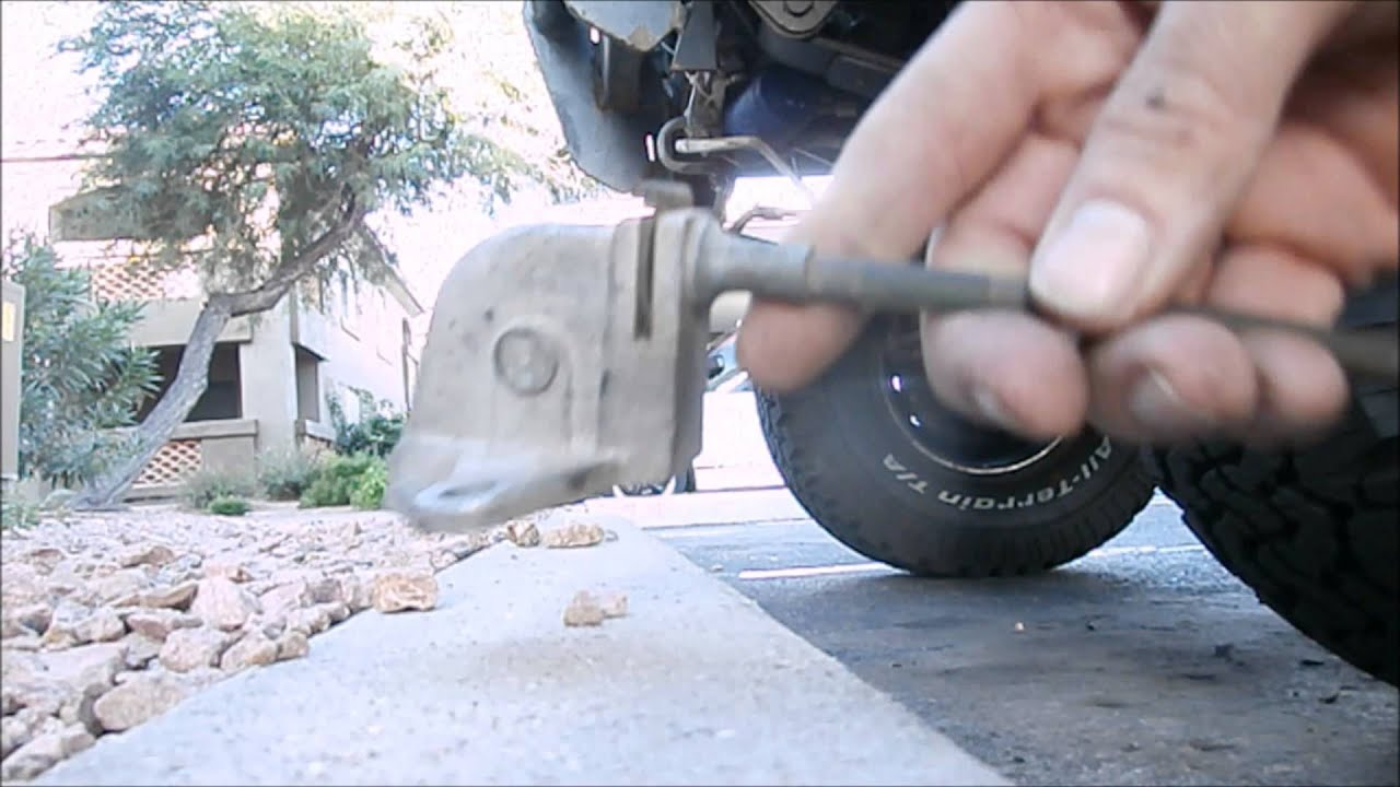Replacing Toyota pickup E brake cable EASY!!!  YouTube