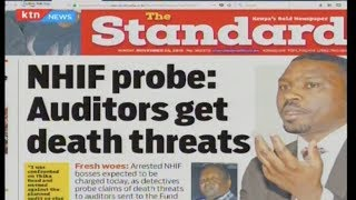 NHIF probe: Auditors get death threats