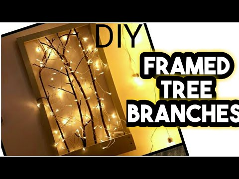 DIY: wall decor using tree branches|| 5minuts DIY || Easy Wall CRAFT