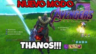 TRAIGANME A THANOS!! Final emotivo :'v Fortnite Battle Royale Modo Avengers Endgame
