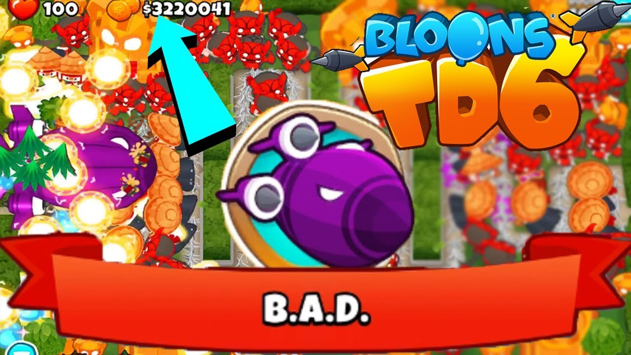 OMG FREEPLAY LEVEL 100 BIGGEST SHIP BAD Bloons TD 6 Glitch