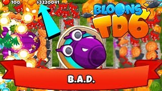 OMG!!! FREEPLAY LEVEL 100 BIGGEST SHIP B.A.D - Bloons TD 6 Glitch
