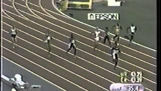 Michael Johnson (43.18WR) - World Championships (400m) - Seville, Spain (1999)