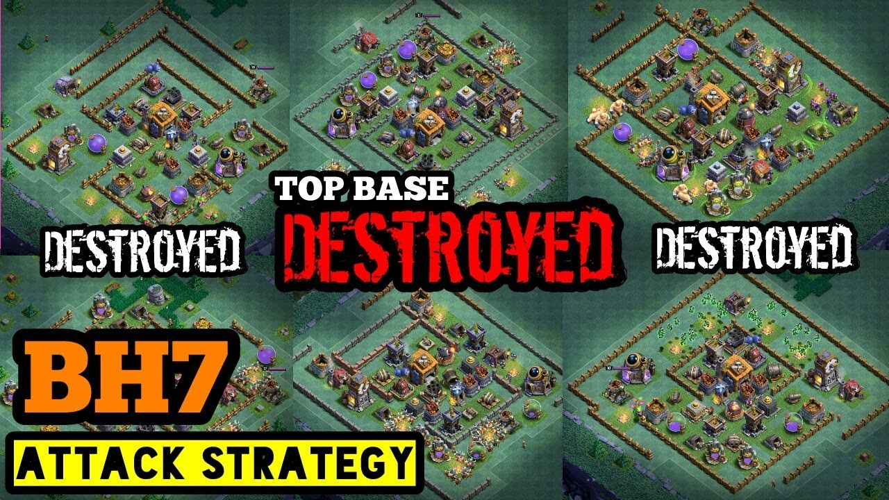 Best Builder Hall 7 Attack Strategy Tips For Bh7 Builder Base Attaack Clash Of Clans Youtube