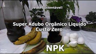 Super Adubo Orgânico Liquido Reaproveitando Resíduos de Alimentos