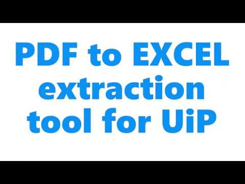 PDF Data Extraction for UiPath