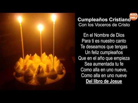 FELIZ CUMPLEAÑOS CRISTIANO + LETRA - Con los Voceros de Cristo