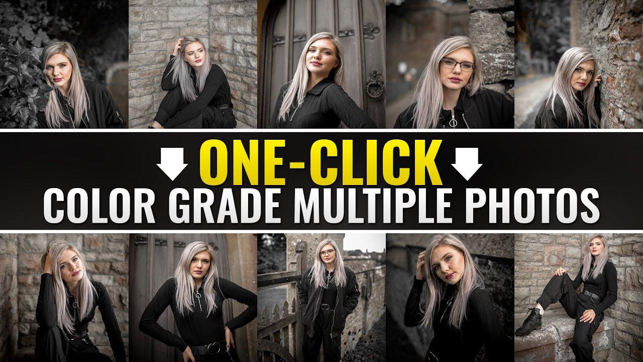 One-Click Color Grade Multiple Photos in Photoshop | Photoshop Tutorial