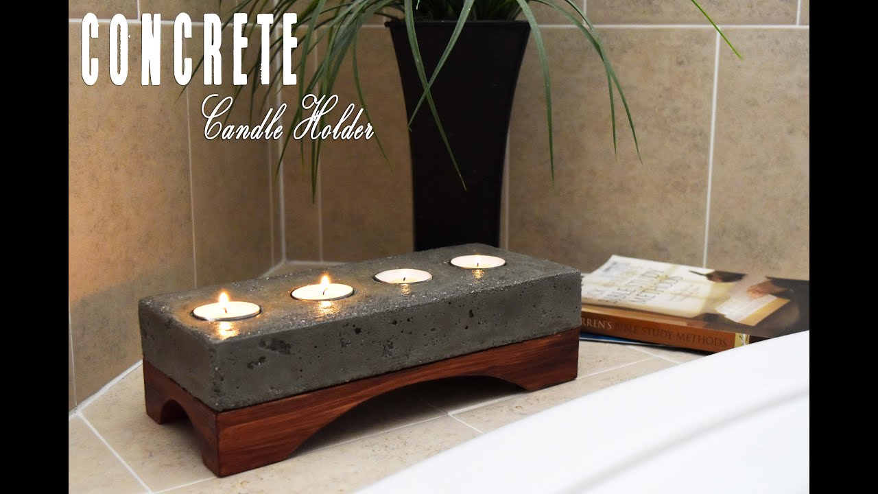 Concrete Candle Holder How To Make Diy Build Youtube