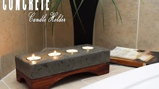Concrete Candle Holder How To Make DIY Build