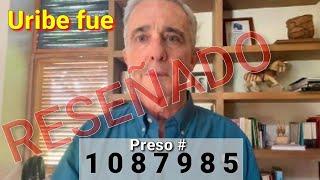 Uribe fue reseñado con un número de preso #1087985