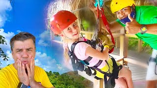 Nastya e seus sonhos de uma viagem em família! Diversão para crianças
