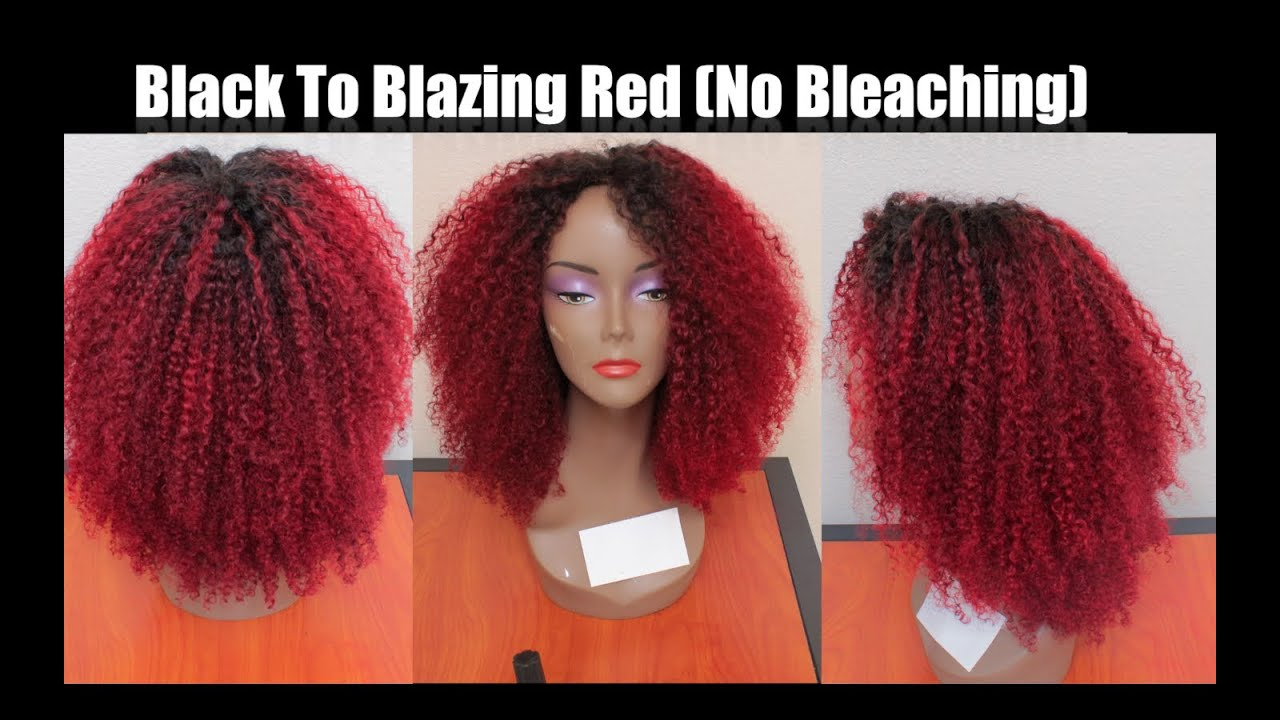 Experiment With Me Black To Blazing Red In One Step WOut