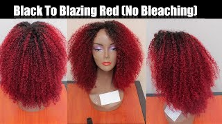 Experiment With Me! Black To Blazing Red In One Step W/Out Bleaching Using BLW Full Lace Wig