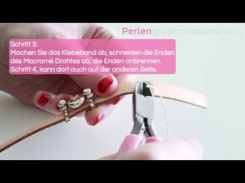 DIY: Armband mit lovi leder und Swarovski Fassung