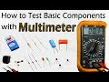 How To Test All Electronic Components with Multimeter | Resistor Capacitor Diode LED Transistor Fuse